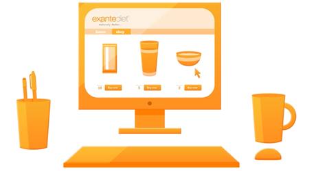 exante website on a computer