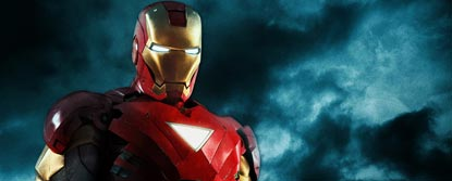 Iron Man With Black Sky In The Background