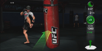 Attacking a punchbag