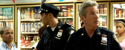 Richard Gere As Eddie Dugan With Another Police Officer In A Supermarket