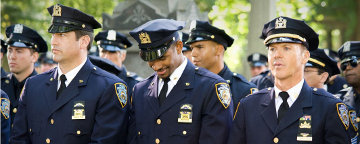 Line Up Of New York Police Officers