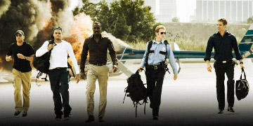 Ghost, Jesse Attica, Gordon Cozier, A.J. And John Rahway Walking Away From An Exploding Helicopter