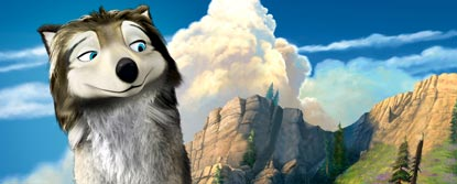Humphrey, Animated Wolf With Mountains In The Background