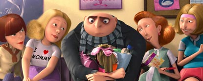 Gru Sat Holding The Girls Bags With Four Mums Sat Next To Him At The Dance Studio