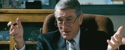 Jack Mabry Played By Robert De Niro Sat In A Chair