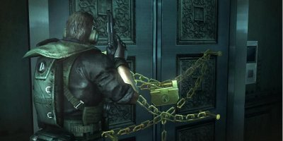 A Puzzle consisting of a door being chained shut
