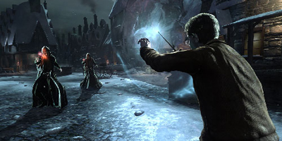 Harry Battles against two evil wizards