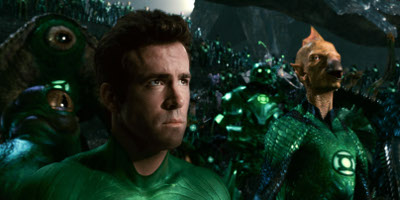 Hal Jordan/Green Lantern Played By Ryan Reynolds, At A Green Lantern Meeting