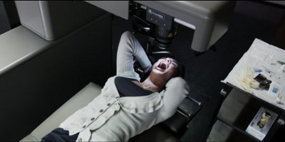 Woman Stuck In Eye Laser Machine Screaming