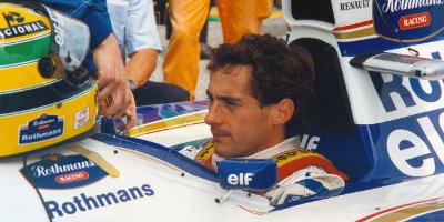Ayrton Senna Sat In His Racing Car