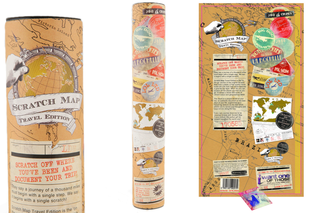 Travel Edition Scratch Map Traditional Gifts – Luckies Of London Scratch Map Travel Edition
