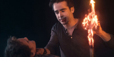 Jerry Holding Burning Cross