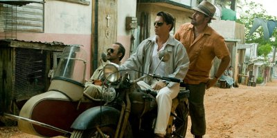 Still of Johnny Depp, Giovanni Ribisi and Michael Rispoli On MotorBike