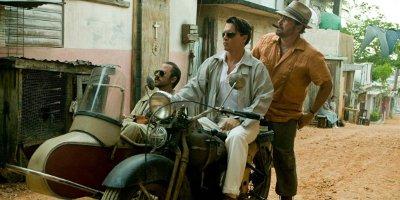 Still of Johnny Depp, Giovanni Ribisi and Michael Rispoli On MotorBike