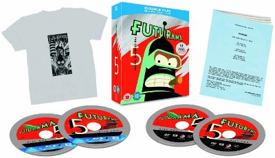 Futurama Box Set With Four Discs, T Shirt And Script