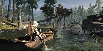 Ratohnaké:ton in a Canoe