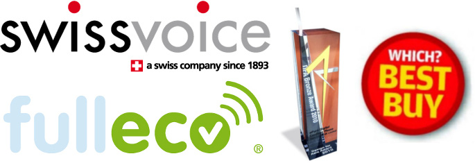 ePure Cordless Phone Swissvoice Fulleco Red