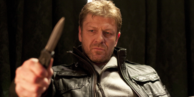 Sean Bean Holding Knife