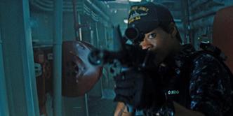 Rihanna Aiming Gun