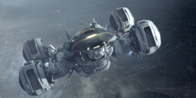 Still of Prometheus Spaceship