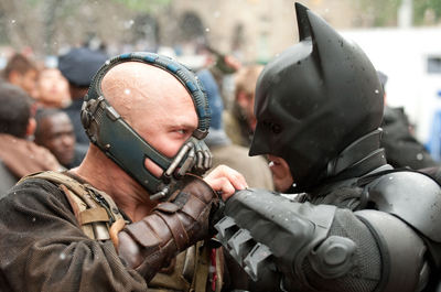 Batman and Bane Fighting