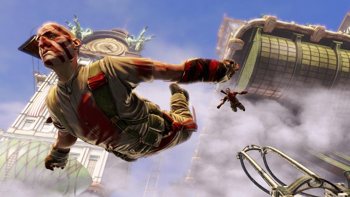 man jumping off buildings