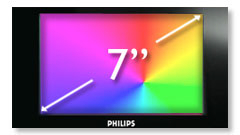 Philips PD7022/05 7 Inch Dual Screen DVD Player Screen Size