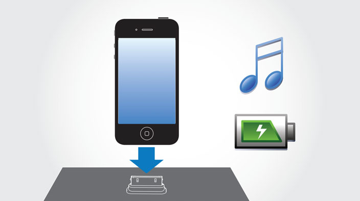 Philips DCM1070/12 Cube Micro Music System Play and Charge iPod/iPhone