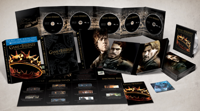 Game of Thrones Season 2 Exploded Packshot