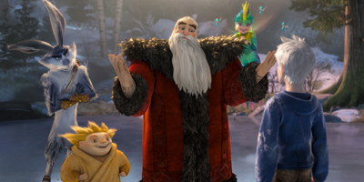 Santa Talking to Jack Frost