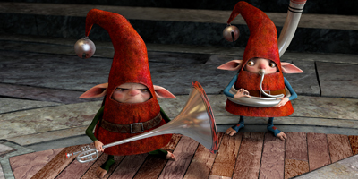 Elves Playing Musical Instruments