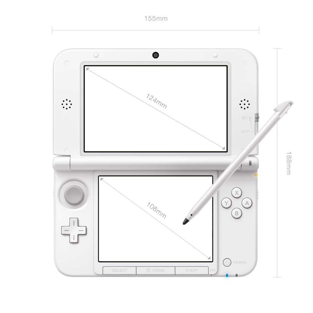 3ds xl console white