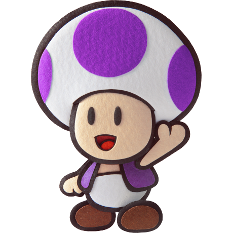 a purple mushroom waving