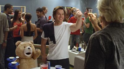 John proposing a toast.