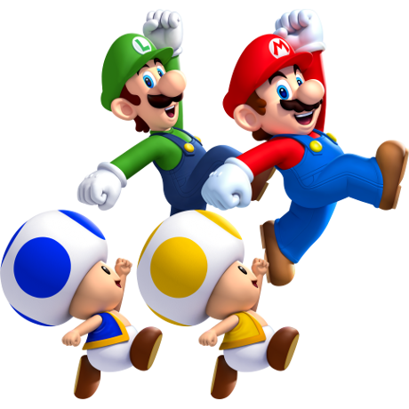 mario and luigi with gang