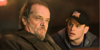 Jack Nicholson & Matt Damon in The Departed
