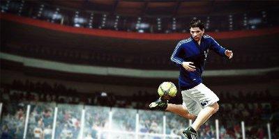 Messi doing tricks in stadium