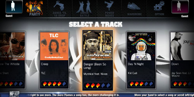 Select track