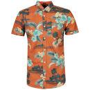 Soul Star Men's Hawaii Shirt - Burnt Orange