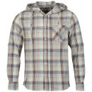 Fly Guy Men's Twenty Two Long Sleeved Hooded Shirt - Ecru