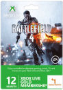 Xbox Live 12 Month Gold Membership + 1 Month Free (Battlefield 4 Packaging)