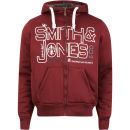Smith & Jones Men's Forax Borg Lined Zip Through Hoody - Burgundy