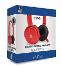 4Gamers PS3 Stereo Gaming Headset - Red