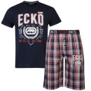 Ecko Men's Loungewear Set -Navy/Checked
