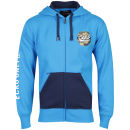 Ecko Men's Circle Camo Hooded Zip Through Sweatshirt - Royal Blue