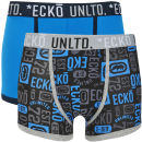 Ecko Men's Pattern 2-Pack Boxers - Blue/Black