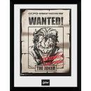 DC Comics Batman Comic Joker Wanted - Framed Photographic - 16 x 12inch