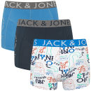 Jack & Jones Men's Acton 3-Pack Boxers - Blue