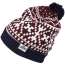 Tokyo Laundry Men's Penda Bobble Hat - Eclipse Blue/Egg Shell/Oxblood
