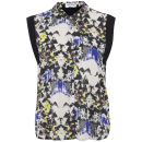 Vero Moda Women's Maunta Sleeveless Contrast Shirt - Moonstruck